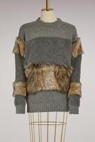 Stella McCartney Wool and faux fur sweater