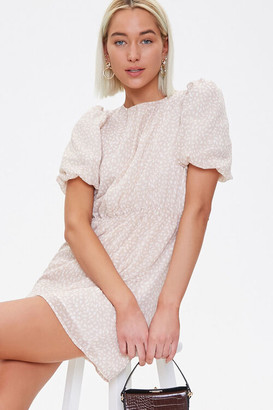 Forever 21 Chiffon Speckled Print Mini Dress