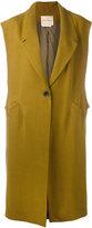 Erika Cavallini - loosely tailored sleeveless coat - women - Linen/Flax/Cupro - 40