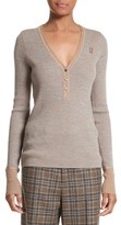 Marc Jacobs Women's Ribbed V-Neck Wool Sweater