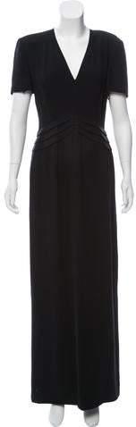 Giorgio Armani Structured Silk Dress