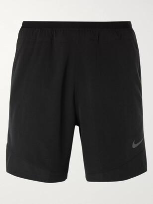 Nike Training - Pro Rep Mesh-Panelled Ripstop Stretch-Shell Shorts - Men - Black