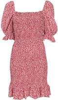AUGUSTE Marlowe shirred mini dress
