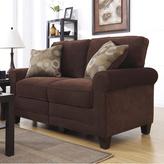 Serta RTA Trinidad Collection 61-inch Chocolate Fabric Loveseat Sofa