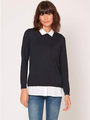 M&Co JDY two in one shirt jumper