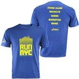 Asics Men's NYC Marathon Run NYC Athletic Shirt, (L, )
