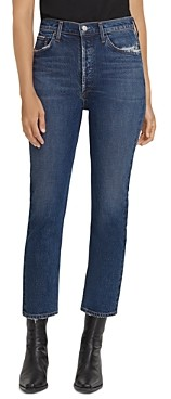 AGOLDE Riley High Rise Straight Leg Jeans in Pastime