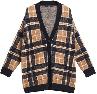 Max Mara Ovidio Check Cardigan