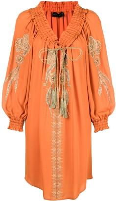 Dundas floral embroidery dress
