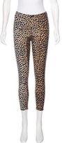 Dolce & Gabbana Cheetah Print Mid-Rise Leggings