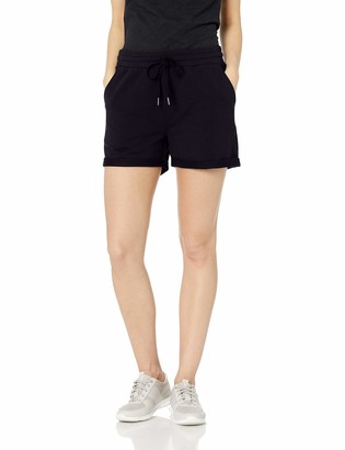 Daily Ritual Amazon Brand Women's Terry Cotton and Modal Roll-Bottom Short