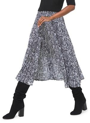 MICHAEL Michael Kors Zinnia Pleated Midi Skirt
