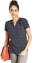 Tom Tailor Women's Bird Print Blouse With Short Sleeves