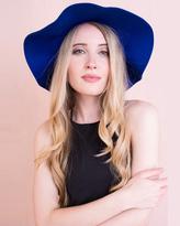 Missy Empire Tammy Royal Blue Ribbon Trim Floppy Hat