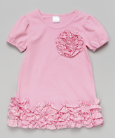 Tutus by Tutu AND Lulu Pink Ruffle Rosette Dress - Kids & Tween