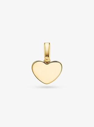 Michael Kors Precious Metal-Plated Sterling Silver Heart Charm