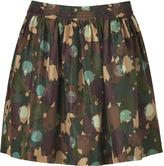 Marc by Marc Jacobs Desert Palm Multi Silk Nata Camouflage Skirt