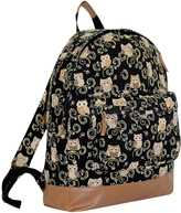 Yours Clothing Black & Multi Owl Print Backpack