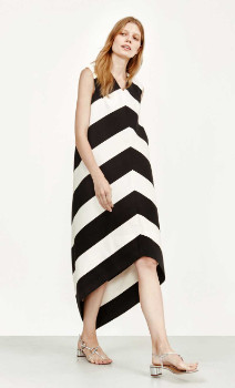 Marimekko Black and White Stripe Dress