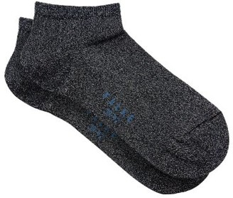 Falke Shiny Ankle Socks - Womens - Navy Multi
