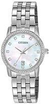 Citizen Quartz Analog Citizen Quartz Collection Mother-of-Pearl Stainless Steel Bracelet Watch