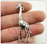Nobrand No brand 3pcs 53*23mm antique silver Giraffe charms