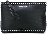 DSQUARED2 studded clutch - women - Calf Leather/metal - One Size