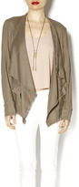 Free People Taupe Linen Jacket