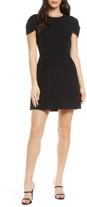 Ever New Petal Sleeve Open Back Sheath Minidress