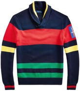 Polo Ralph Lauren Striped Shawl Sweater