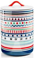 Home Essentials Festive Tree Striped Lidded Canister, Created for Macy's