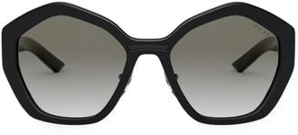 Prada Catwalk 55MM Hexagon Sunglasses