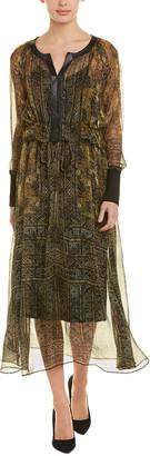 Pokwai Silk Maxi Dress