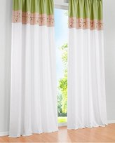 1pcs Floral Embroidered Window Curtain Panels Tap Top LivebyCare Patchwork Color Window Treatments Drapery Drape Room Divider Partition Curtains Decorative for Family Room Hotel