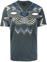 Les Hommes metallic applique T-shirt