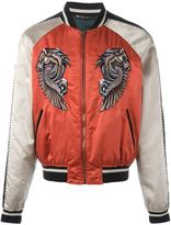 Roberto Cavalli embroidered Pegasus bomber jacket - men - Cotton/Polyester/Cupro/Viscose - 50