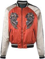 Roberto Cavalli embroidered Pegasus bomber jacket