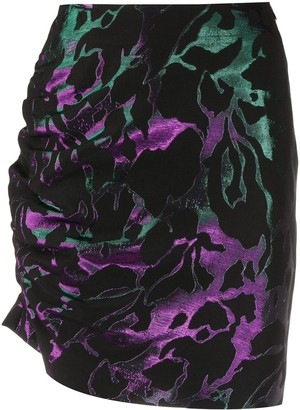 FEDERICA TOSI Abstract-Pattern Ruched Skirt