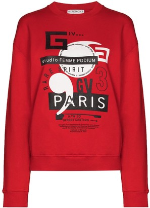 Givenchy Graphic-Logo Crew-Neck Sweatshirt