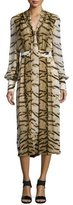Roberto Cavalli Tiger-Print V-Neck Wide-Leg Jumpsuit