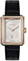 Chanel BOY·FRIEND 18K Beige Gold Watch with Diamonds, Medium Size