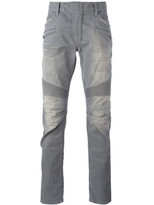 Balmain Slim-Fit Biker Knee Jeans