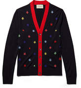 Gucci - Slim-Fit Intarsia Wool Cardigan