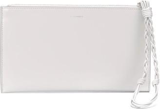 Jil Sander Logo Clutch Bag