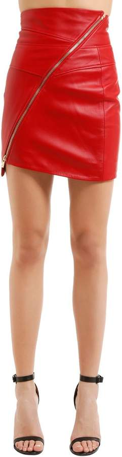 Alexandre Vauthier Nappa Leather Mini Skirt