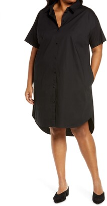 Eileen Fisher Organic Cotton Blend Shirtdress