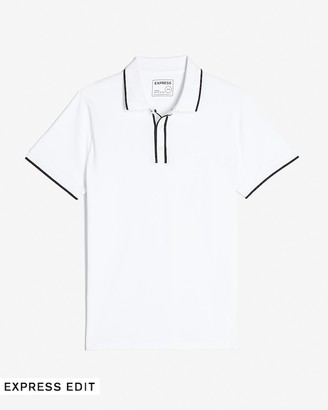 Express Piped Moisture-Wicking Polo