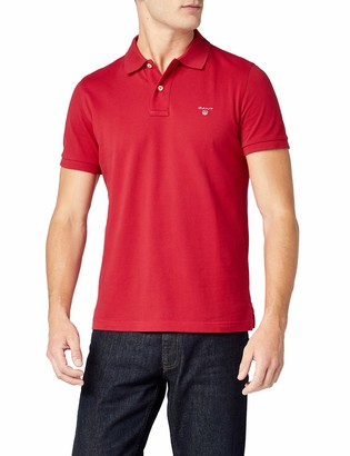 Gant Men's Solid Pique Rugger Regular Fit Short Sleeve Polo Shirt