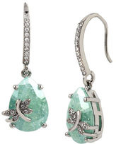 Betsey Johnson Spring Critters Cubic Zirconia Dragonfly Drop Earrings