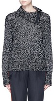 Rag & Bone 'Sandra' button turtleneck chunky knit sweater